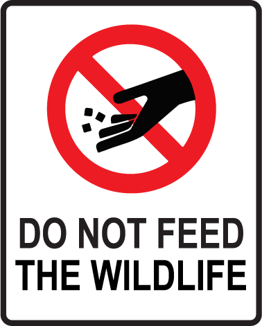 Please Do Not Feed The Wildlife.